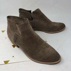 Dolce Vita Tan Suede Ankle Booties 7.5